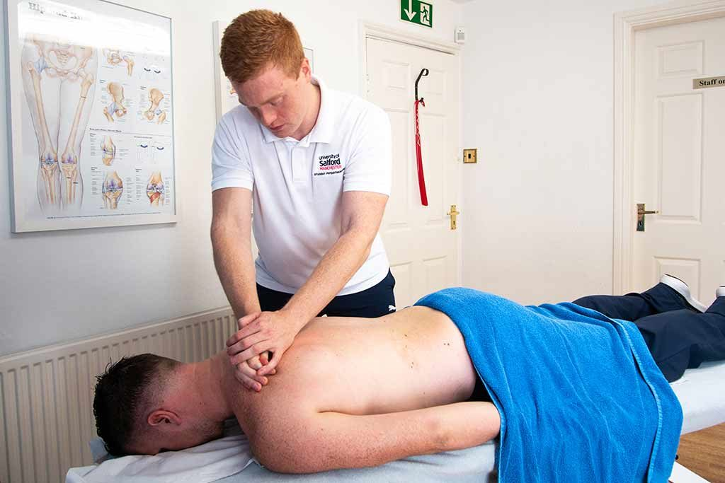 Shoulder massage therapy
