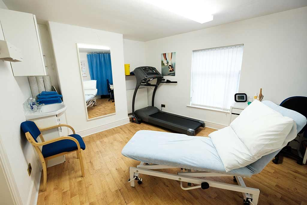 Physiotherapy clinic treatment room