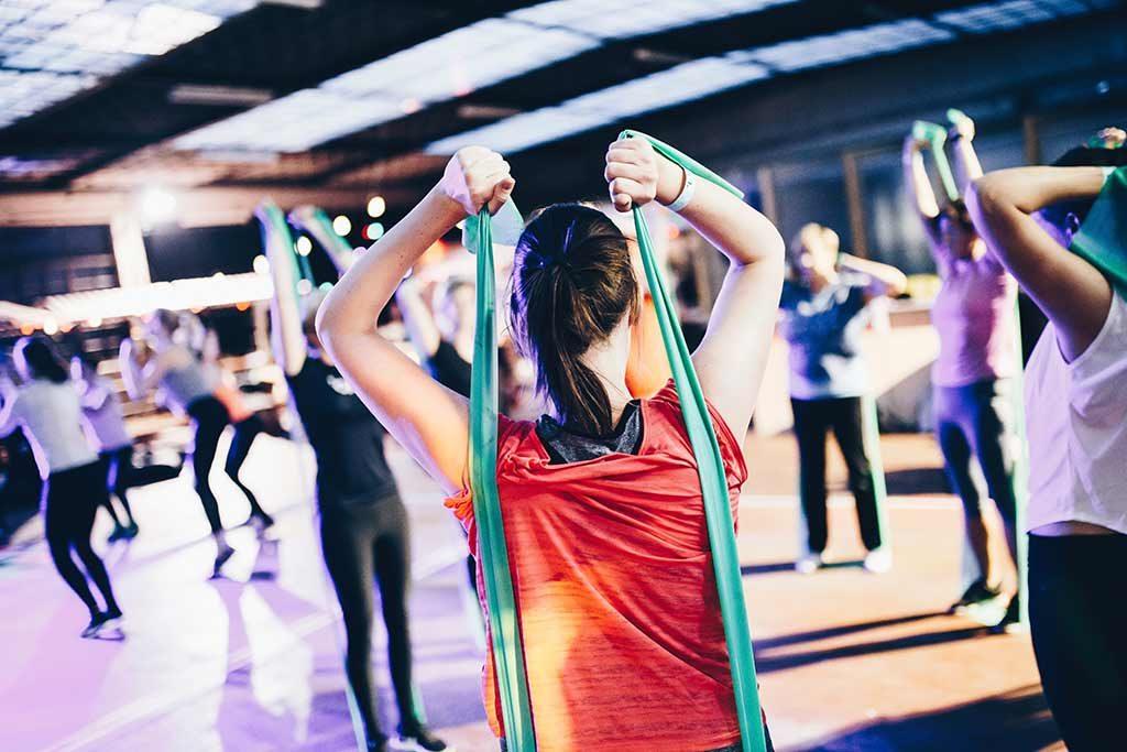Gym fitness class