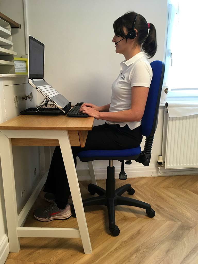 correct workstation sitting posture